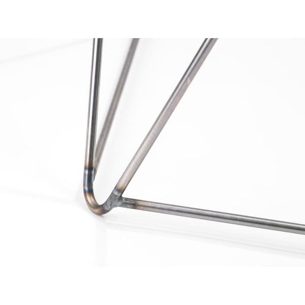 Sivá noha ku stolu Master & Master Diamond,  70 x 70 cm