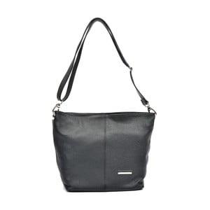 Čierna kožená kabelka Luisa Vannino Simona