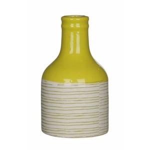 Žlto-biela keramická váza Mica Fabio, 14x8 cm