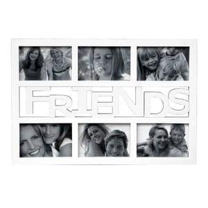 Fotorámik na 6 fotiek Friends, biely