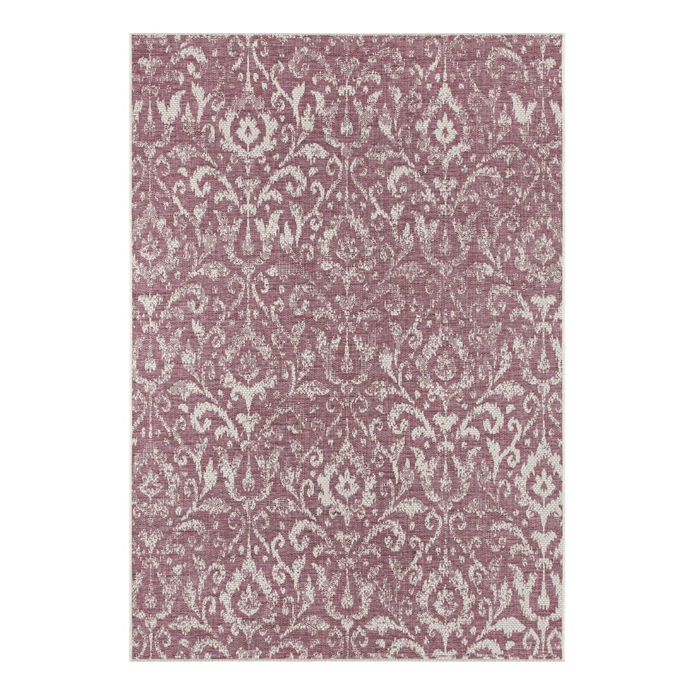 Fialovo-béžový vonkajší koberec Bougari Hatta, 70 x 140 cm