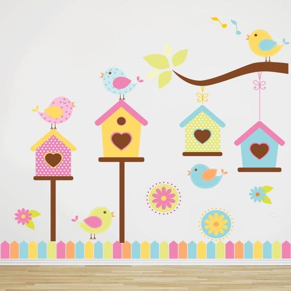 Samolepka na stenu Farebné domčeky