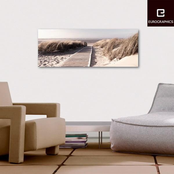 Sklenený obraz Morning Walk, 30x80 cm