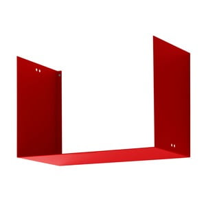 Nástenná polica Geometric Two, červená