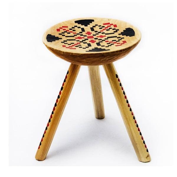 Ručne maľovaná stolička Iara, 38 cm