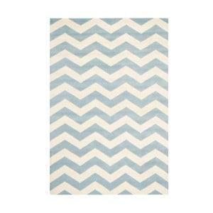 Vlnený koberec Crosby Aqua, 182x274 cm