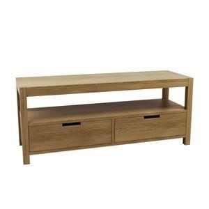Televízny stolík z dubového dreva Fornestas Sims