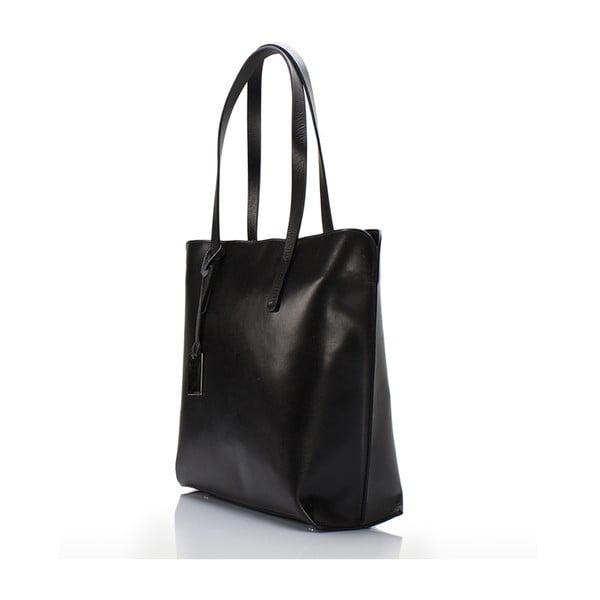 Čierna kožená kabelka Giorgio Costa Gerogina