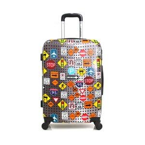 Farebný cestovný kufor na kolieskach American Travel, 46l