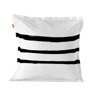 Balvnená obliečka na vankúš Blanc Stripes, 60×60 cm