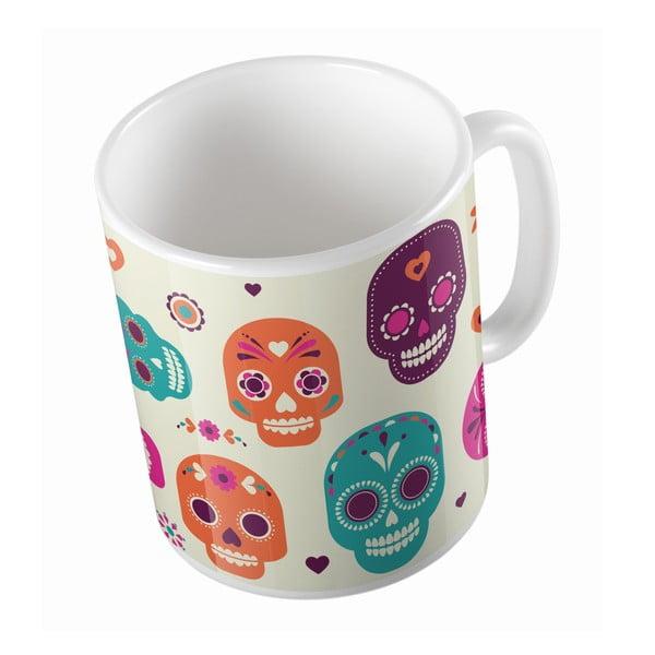 Keramický hrnček Sugar Skull, 330 ml