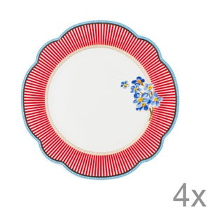 Porcelánový tanier Happy od Lisbeth Dahl, 19 cm, 4 ks