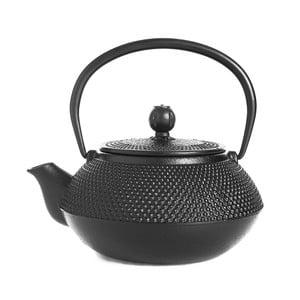 Čierna liatinová čajová kanvica Bambum Taşev Linden, 800 ml