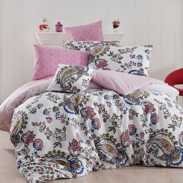 Obliečky s plachtou Channel,200x220cm, ružové