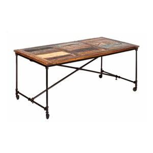 Jedálenský stôl z masívneho dreva na kolieskach 13Casa Industry, šírka 180 cm