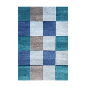 Modrý detský koberec Happy Rugs Patchwork, 120x180cm