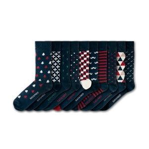 Sada 10 ponožiek Black&Parker London Barnsley House, veľkosť 37 – 43