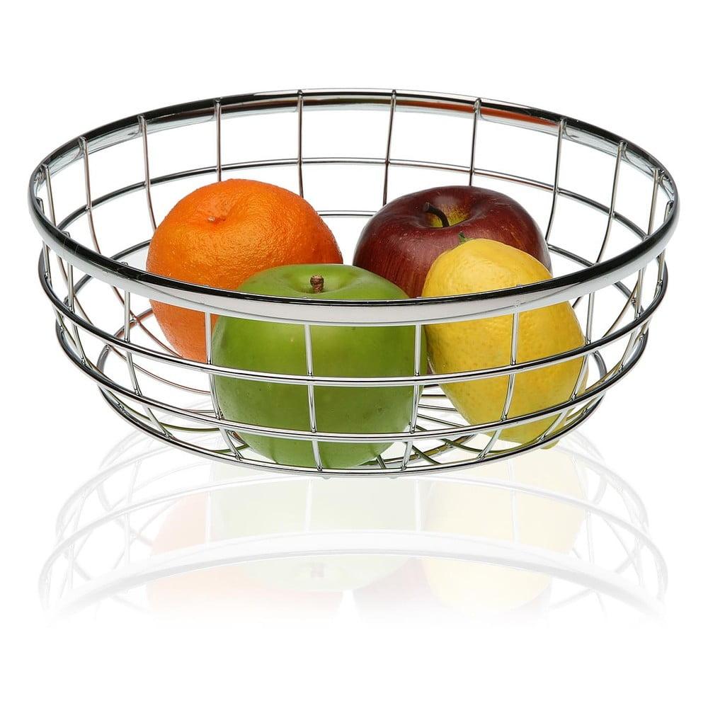 Oceľový košík na ovocie Versa Chrome, ø 25 cm