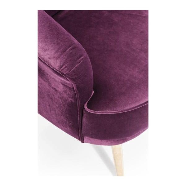 Fialové kreslo Kare Deisgn Purple Rain