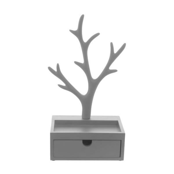 Stoján na šperky Tree Drawer Grey