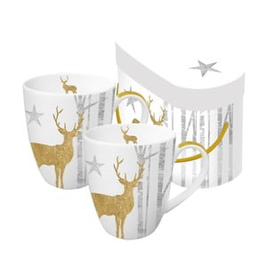 Sada 2 porcelánových hrnčekov PPD Mystic Deer, 350 ml