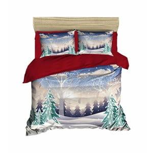 Vianočné obliečky na dvojlôžko s plachtou Vanessa, 160×220 cm
