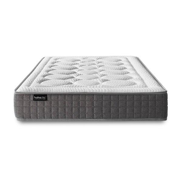 Biely matrac so sivým okrajom Bobochic Paris Passion, 80×200 cm