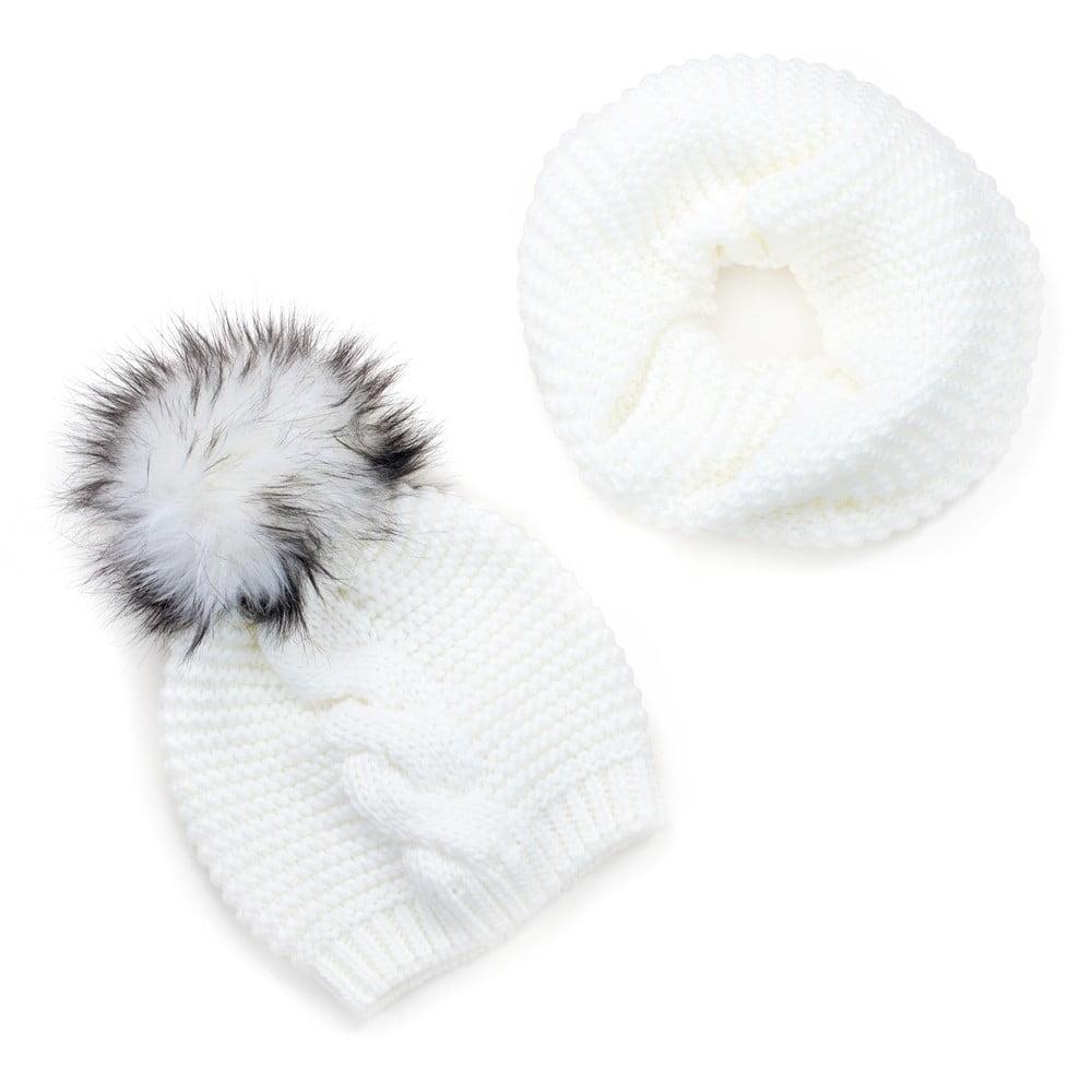 33f2d72f8 Sada bielej dámskej čiapky a šálu Art of Polo Laila