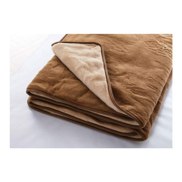 Vlnená deka Camel, 140x200 cm