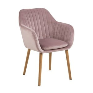 Ružová jedálenská stolička Actona Emilia Vic