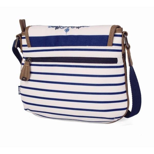 Modro-biela kabelka Lois, 25 x 20 cm