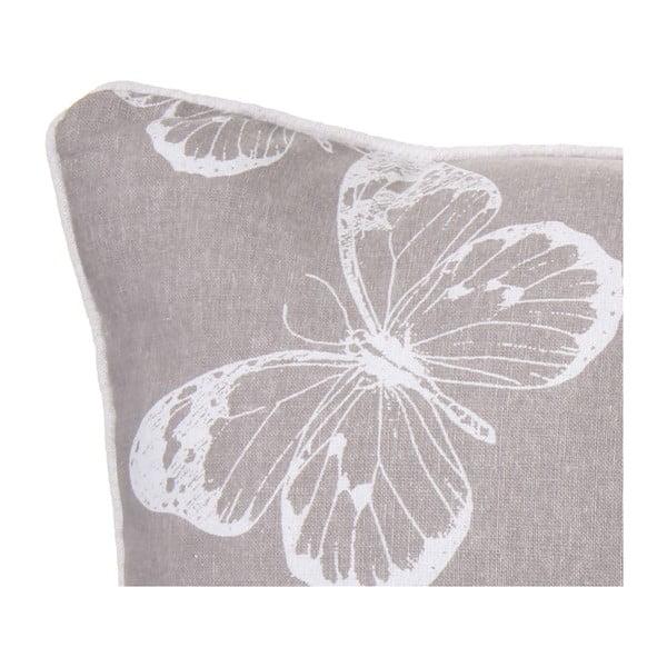 Vankúš Butterfly Grey, 45x45 cm