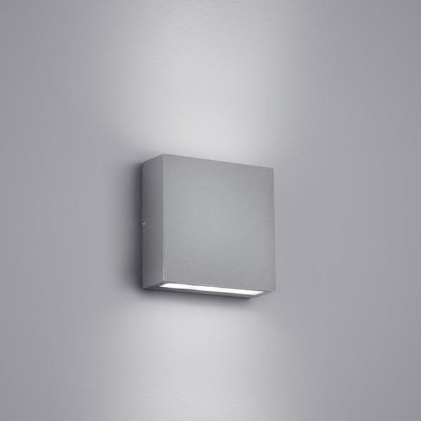 Svetlosivé vonkajšie nástenné svetlo Trio Thames, výška 14 cm