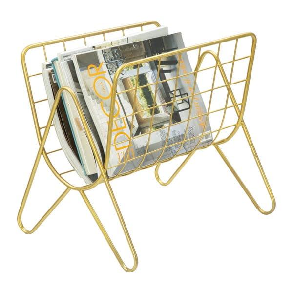 Kovový stojan na časopisy v zlatej farbe Mauro Ferretti Cedazo