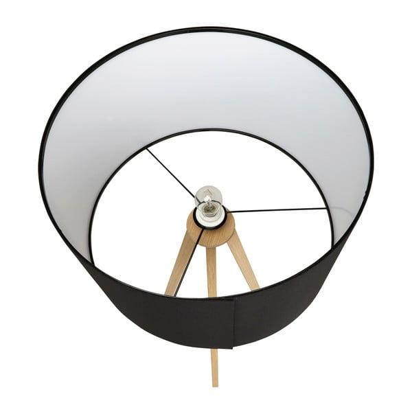 Stojacia lampa s čiernym tienidlom Kokoon Trivet