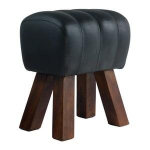 Čierna kožená lavica Fuhrhome Lima