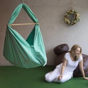 Mentolovozelená kolíska z bavlny so zavesením do dverí Hojdavak Baby (0 až 9 mesiacov)