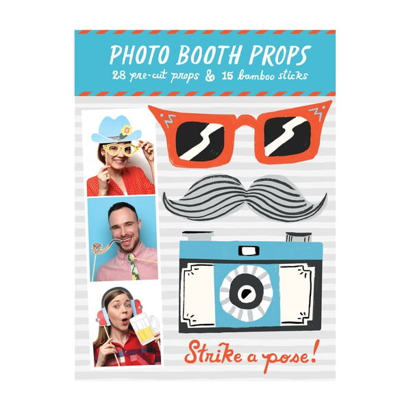 Rekvizity (nielen) do fotobúdky Galison Mudpuppy Photo Booth Props Strike a pose!