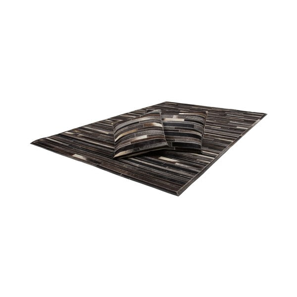 Kožený vankúš Eclipse Brown, 40x60 cm
