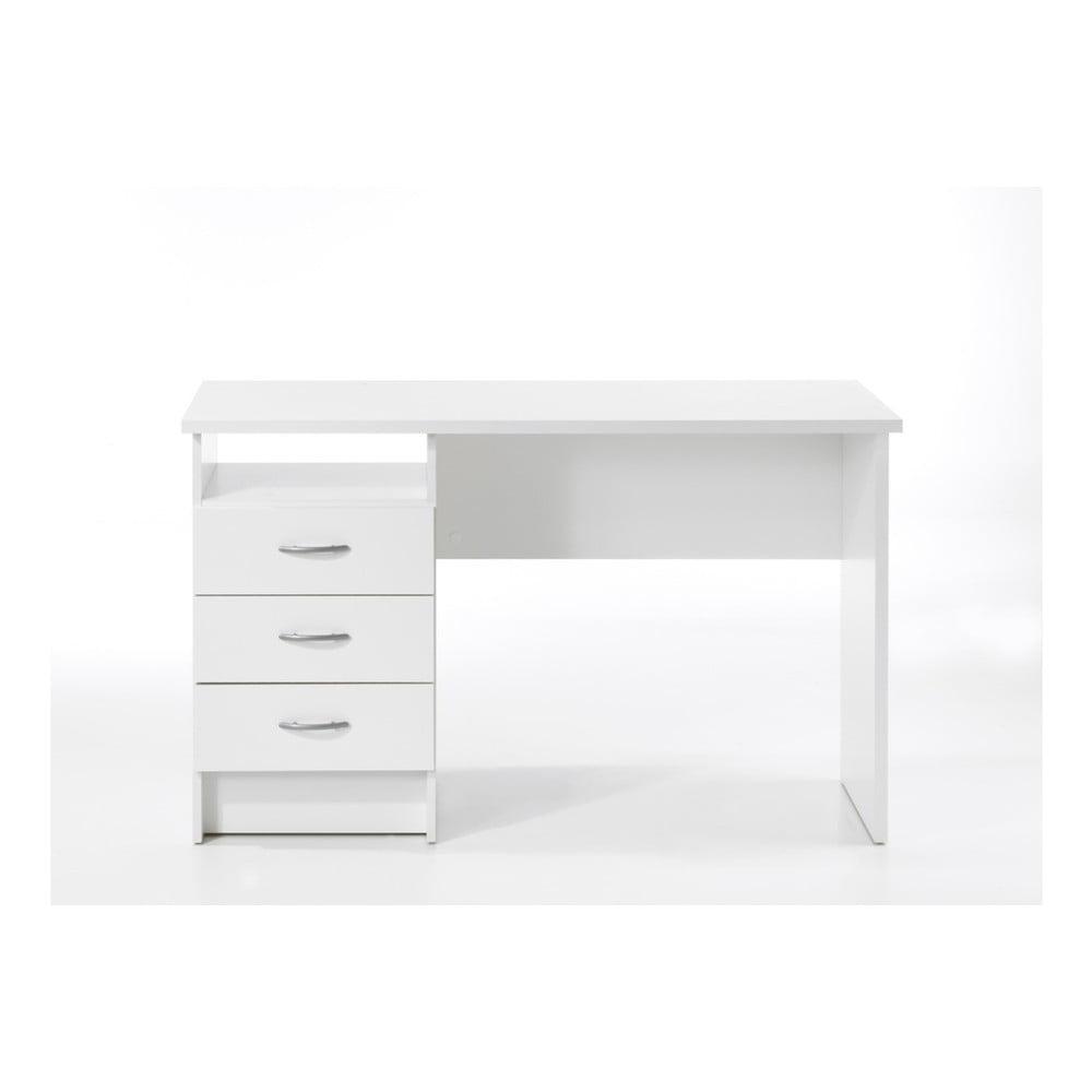 Biely pracovný stôl Evergreen Houso Manager