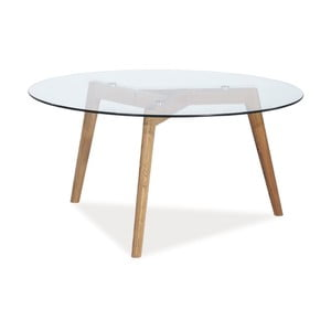 Konferenčný stolík s doskou z tvrdeného skla Signal Oslo, ⌀80cm