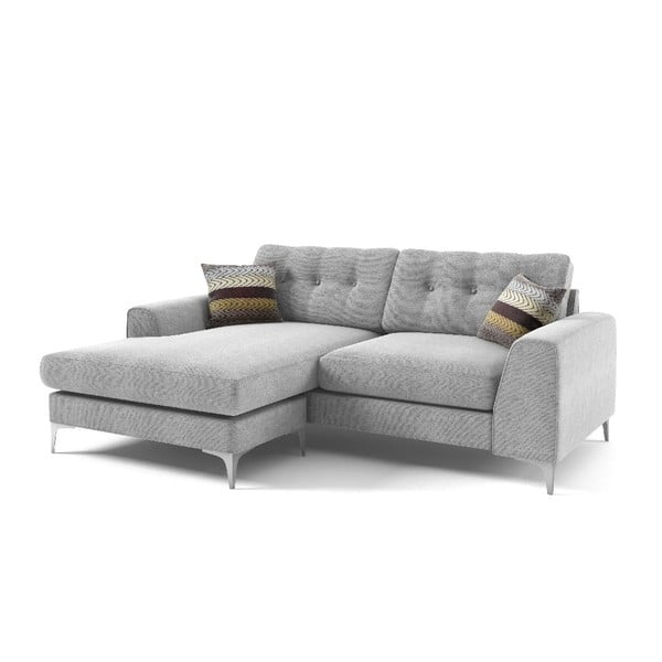 Rohová sedačka Ebony, sivá