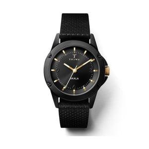 Dámske hodinky s čiernym koženým remienkom Triwa Midnight Skala