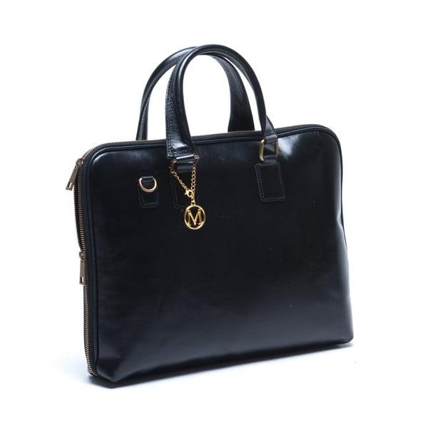 Kožená kabelka Mangotti 375, čierna