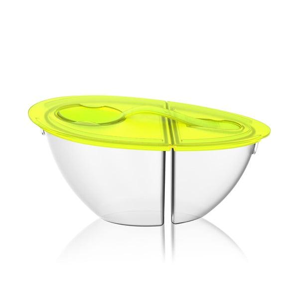 Prenosná miska na jogurt Flip N 'Pour Lime