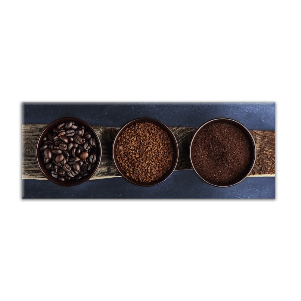 Obraz Styler Glas Kitchen Brown Bowls, 30 × 80 cm