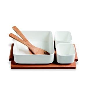 Servírovacie misky s bambusovým podnosom Mythos, 30 x 17 cm