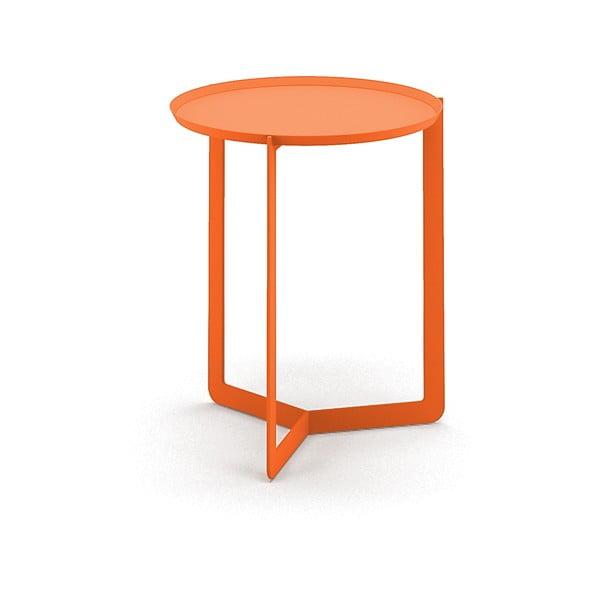 Oranžový príručný stolík MEME Design Round, Ø40cm