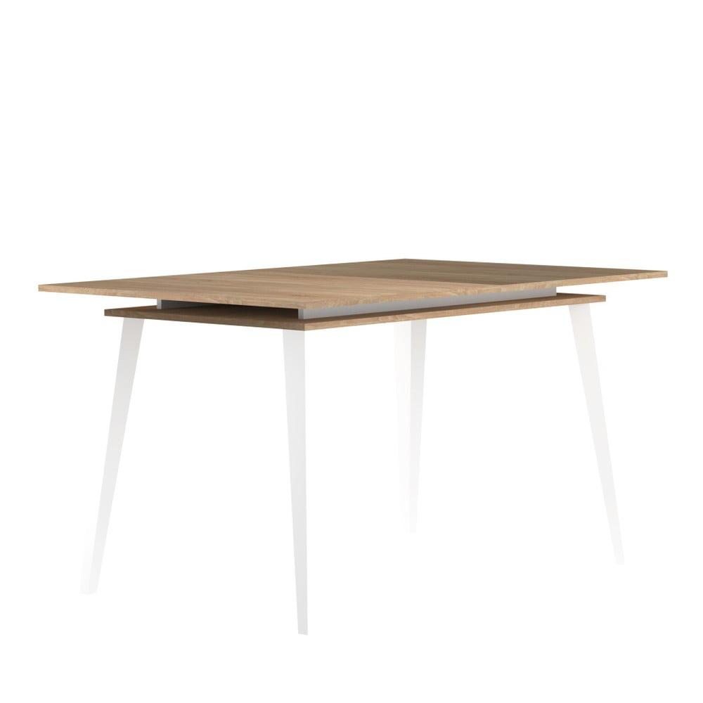Svetlohnedý rozkladací jedálenský stôl Symbiosis Prism