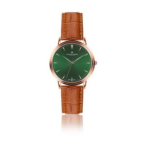 Pánske hodinky s koňakovohnedým remienkom z pravej kože Frederic Graff Rose Grunhorn Croco Ginger